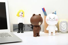 Amazon.com: LINE Character Sticker Action Figure Display Toy 5.4 Inches