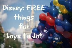 This is a great list of free things for boys to do in disney from Theclothspring.com