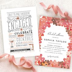 Discover the perfect bridal shower invitation design to celebrate the bride to be.