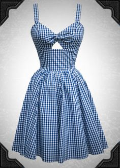 The Hottie dress is a retro gingham dress - bring on the sunshine!