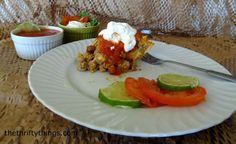 Delicious, easy Taco Casserole #recipe  http://thethriftythings.com/2013/04/taco-casserole-recipe-makes-us-a-crock-star.html