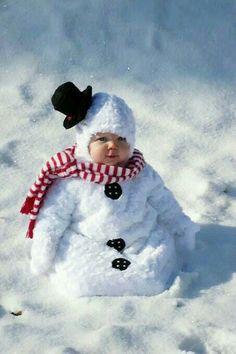 Hermoso muñequito de nieve...