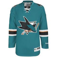 San Jose Sharks Official Home Reebok Premier Replica NHL Hockey Jersey Custom Hockey Jerseys, Nhl Hockey Jerseys, Hockey Gear, Ice Hockey, San Jose Sharks Jersey, Logan Couture, Reebok, Hockey Sweater, Sport