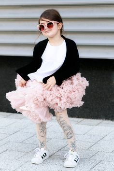 What To Wear To Circus } Kids Style by Miss Kaira feat. Angel's Face Tutu and Stella McCartney Kids Sunglasses   EdgyCuts