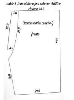 Agulha de ouro Ateliê: Molde de samba canção com montagem passo a passo