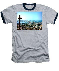 Baseball T-Shirt - Stone Cross In Cartagena Colombia