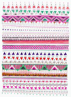 geometric rug pattern | #borders #doodling #art journaling inspiration ideas