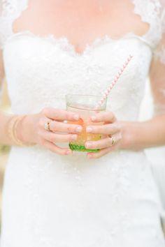 Pretty wedding cocktails:http://www.stylemepretty.com/2014/09/18/charming-santa-barbara-estate-wedding/ | Photography: Mirelle Carmichael - http://www.mirellecarmichael.com/