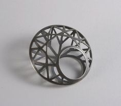 Geometric Jewellery design - architectural ring, wearable art // Kathleen Rearick