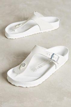 25e67db7c040 Birkenstock Gizeh Exquisite Slides White 36 Euro Sandals White Sandals,  Lace Up Sandals, White