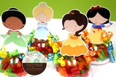 Classic Princess Inspired Candy Favor Containers by itzwhimzeycal