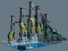 What is dead may never die | Greyjoy stronghold from Game of Thrones in LEGO