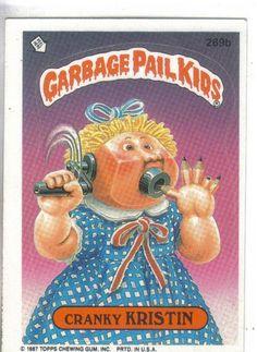Garbage Pail Kids 1987 #269b Cranky Kristin