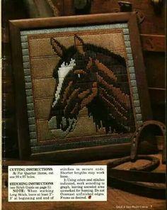 Horse yarn painting 1/2