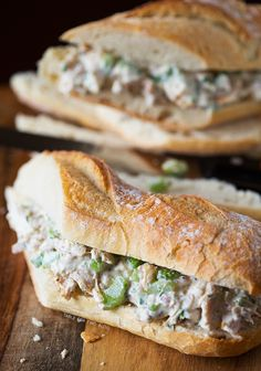 #SexyShredRecipes Lightened Up Chicken Salad Sandwich | tablefortwoblog.com - Poultry guidelines apply (cage-free or free range, vegetarian fed, no hormones or additives). Sea or kosher salt. Nonfat Greek yogurt.