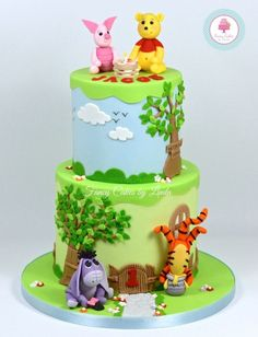 Disney Inspired Winnie the Pooh Themed Birthday Cake