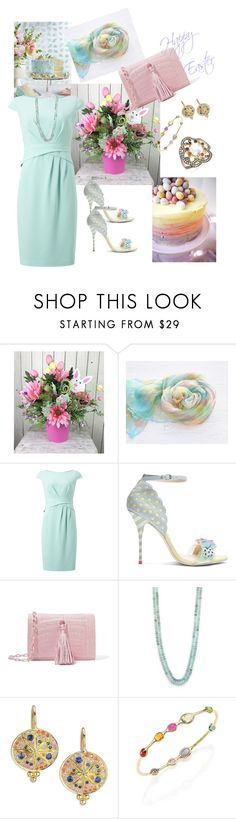 """Happy Easter Polyvore Friends🐣🐇🌸🌼💒"" by parnett ❤ liked on Polyvore featuring Jacques Vert, Sophia Webster, Nancy Gonzalez, Lena Skadegard, Temple St. Clair, Ippolita and Noor Fares"