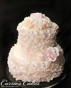 Wedding Cakes - Carrie's Wedding Cakes Cupcake Cakes, Cupcakes, Mini Cakes, Tiffany Cakes, Ruffle Cake, Ruffles, Chanel Cake, Fantasy Cake, Wedding Cake Inspiration