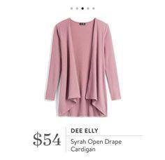 Stitch Fix: Dee Elly Syrah Open Drape Cardigan $54