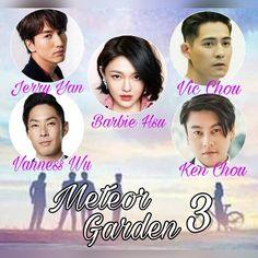 #YesToMeteorGarden3  Jerry Yan Barbie Hsu  Vic Chou Vanness Wu Ken Chu  F4 JVKV JerBie Ken Chu, Vic Chou, Jerry Yan, F4 Meteor Garden, China, Drama Series, Barbie, Celebrities, Life
