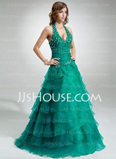 Quinceanera Dresses - $216.69 - Ball-Gown Halter Floor-Length Organza Quinceanera Dress With Ruffle Lace Beading (021016403) http://jjshouse.com/Ball-Gown-Halter-Floor-Length-Organza-Quinceanera-Dress-With-Ruffle-Lace-Beading-021016403-g16403
