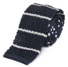 Classic Stripe Knit Tie