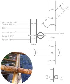 México DF: taller de construcción con bambú levanta 22 pabellones experimentales… Architecture Concept Diagram, Bamboo Architecture, Architecture Details, Bamboo House Design, Bamboo Building, Container Office, Bamboo Structure, Bamboo Construction, Interior Design Sketches
