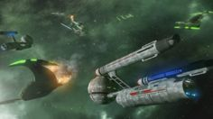 The NX-04 Discovery is severely crippled by a Romulan ambush in the Komase Nebula. Fortunately, two Daedalus Class ships come to her aid. Models by LC_Amaral and Majestic Stocks by Atlus and Frostbo