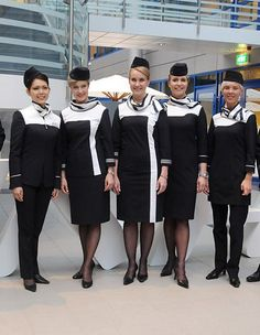 Finnair new flight attendant uniform ~ World stewardess Crews Yeah...maybe OUR new ones aren't as bad as I thought!
