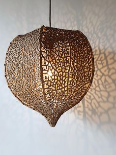Chinese Lantern Plant Lantern in Corrugated Cardboard. #lasercutting #recycling