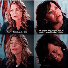 Your baby's kicking. Greys Anatomy Episodes, Greys Anatomy Funny, Grays Anatomy Tv, Grey Anatomy Quotes, Greys Anatomy Scrubs, Meredith Grey Quotes, Meredith And Derek, Meredith Grey's Anatomy, Youre My Person