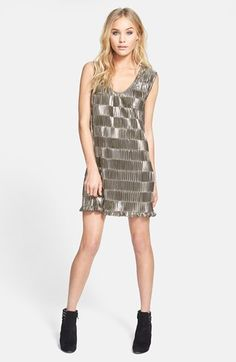 This is a fun NYE eve party dress 'Disco Ball' Pleat Metallic Dress #Nordstrom