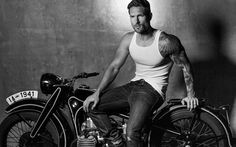"""My Logan """"High"""" Weston Boucher Motorcycle Men, Motorcycle Photography, Photography Poses For Men, Motorcycle Style, Motorcycle Outfit, Biker Style, Weston Boucher, Sexy Tattooed Men, Black White"""