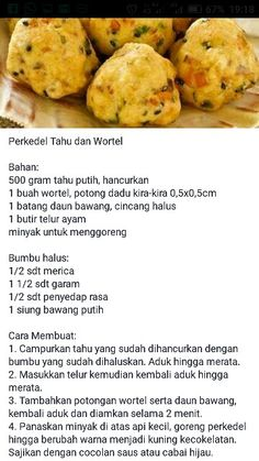 Indonesian Food Traditional, Food N, Food And Drink, Tofu Recipes, Dessert Recipes, Desserts, Food Pictures, Noodles, Food To Make