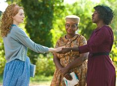 From left, Emma Stone, Octavia Spencer and Viola Davis are shown in a scene from The Help, filmed in Greenwood, Mississippi. Beau Film, 3 Movie, Movie List, Mean Girls, The Help Movie Quotes, Iron Jawed Angels, Female Movie Characters, Thelma Y Louise, Top Rated Movies