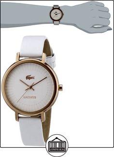 Lacoste 2000715 - Reloj analógico de cuarzo para mujer con correa de piel, color blanco  ✿ Relojes para mujer - (Gama media/alta) ✿
