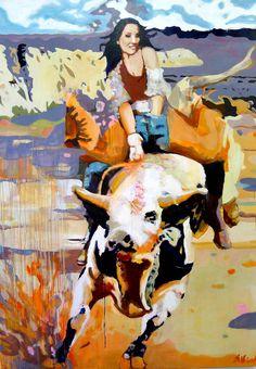 8 Seconds   200 x 140 cm   Acryl auf Leinwand    2016