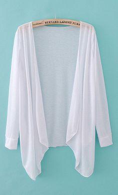 Sun-proof thin knit coat X956 White
