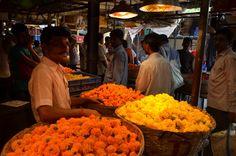 Wholesale flower market, Mumbai Flower Market, Mumbai, Food, Meals, Flower Shops