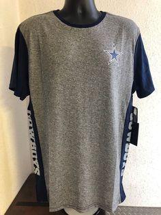 Cowboys Short Sleeve NFL Team Apparel Shirt Gray Blue White - Size Mens XL 7c95fc110