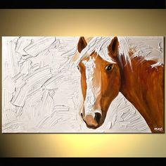 Figura abstracta original impresión en lienzo por OsnatFineArt, $360.00