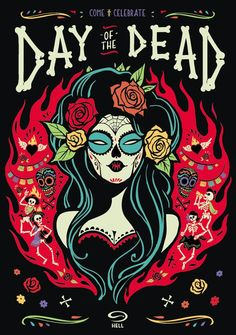 Day Of The Dead ~ Hell Pizza by Gina Kiel