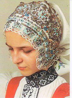 Kyjov folk costum; Kyjov national costumes (girl)