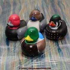 Vinyl Decoy Mallard Rubber Duckies 4-Pack