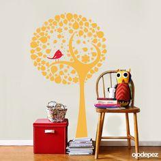 Vinilo decorativo Infantil 017: Árbol con pajarito. Vinilos decorativos Vinilos adhesivos Wall Art Stickers wall stickers