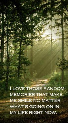 I love those random memories ...