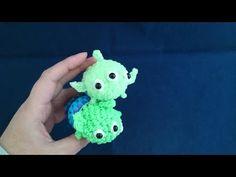 かぎ編みで編む(only hook)ツムツム(TSUM TSUM)リトルグリーメン( little green men)レインボールーム(Rainbowlooms) - YouTube