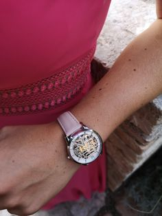 Doesn't the Beauvoir with the Nude colored leather strap look awesome on the wrist? Julien, Mechanical Watch, Watches For Men, Nude, Luxury, Awesome, Leather, Accessories, Women