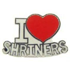 "I Love Shriners Pin 1"" by FindingKing. $8.99. This is a new I Love Shriners Pin 1"""