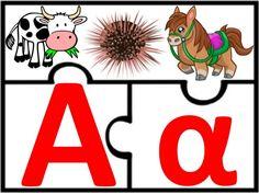 Παιχνίδι αλφαβήτας / Για παιδιά του νηπιαγωγείου της πρώτης δημοτικού… Phonological Awareness, Folder Games, Spring Crafts, Learning Activities, Literacy, Alphabet, School, Kids, Young Children
